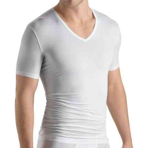 HANRO Cotton Sensation –  T-Shirt V-Ausschnitt – Art. 073068