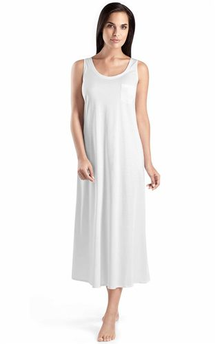 ac1a1f04c1c289 HANRO Cotton de Luxe - Nachtkleid lang ohne Arm - Artikel‐Nr. 077951